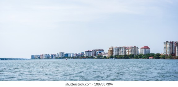 Panoramic cityscapes of Kochi city, Kerala, India.