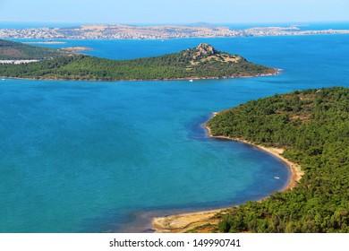 Panoramic coast view , Ayvalik, Turkey