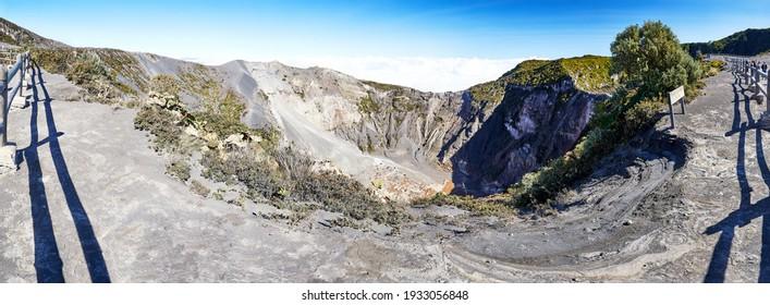 Panoramic crater and caldera of the volcano Irazu