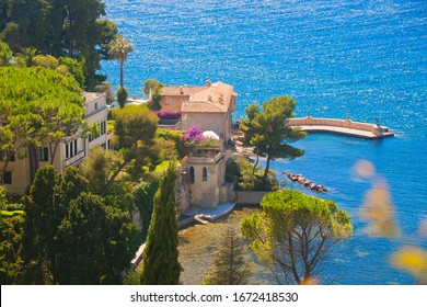 Panoramic of french riviera, France