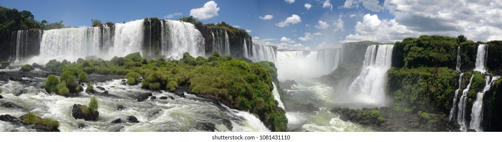 panoramic of Iguacu National Park Brasil - Iguazu Brazil