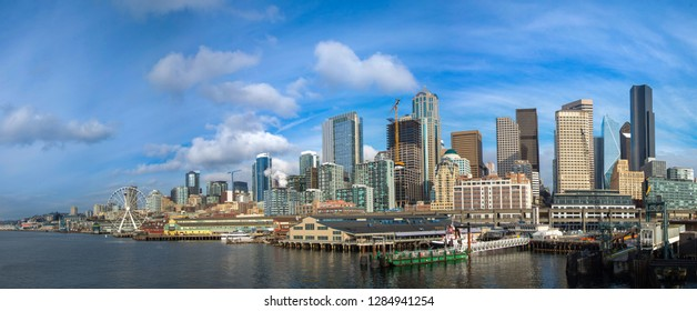 Panoramic Image of the city of Seattle, USA
