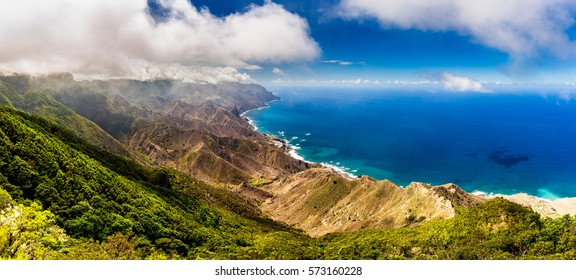 Panoramic landscape in Anaga mountains, Tenerife Canary Islands, Spain