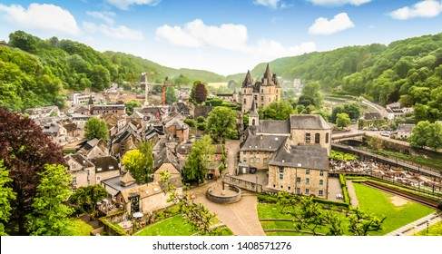Panoramic landscape of Durbuy, Belgium. Smallest city in the world. - Shutterstock ID 1408571276