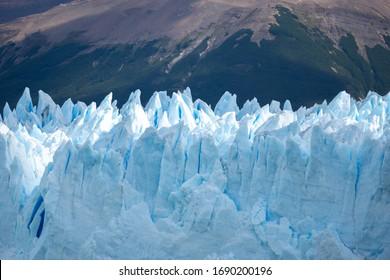 Panoramic landscape of the Perito Moreno glacier in Patagonia, Argentina