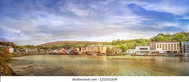 Panoramic landscape of a small town Bantry in a county Cork. South west of ireland.