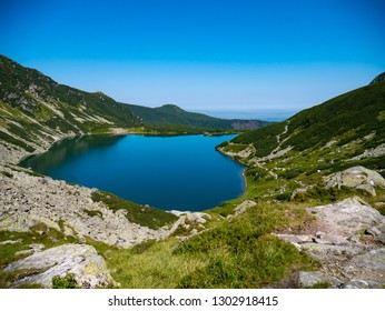 Panoramic landscape in tatra mountains in Tatra National Park in Polnad