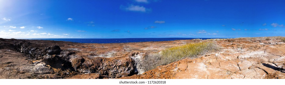 Panoramic Landscape View from Floreana Island in the Galapagos Islands, Ecuador