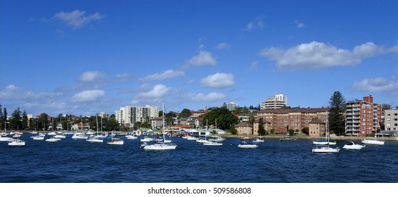 Panoramic landscape view of Manly in Sydney New South Wales, Australia