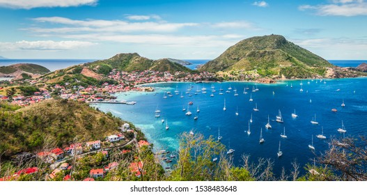 Panoramic landscape view of Terre de Haut, Guadeloupe.