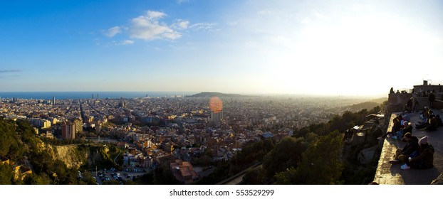 panoramic lanscape from sightseeing of barcelona, catalonia, spain,europe.