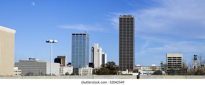 Panoramic Little Rock, Arkansas, USA, North America.