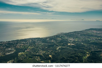Panoramic of Marbella from la Concha Mountain.