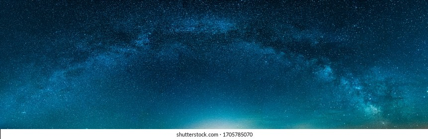 Panoramic Milky way isolated on Night Starry sky