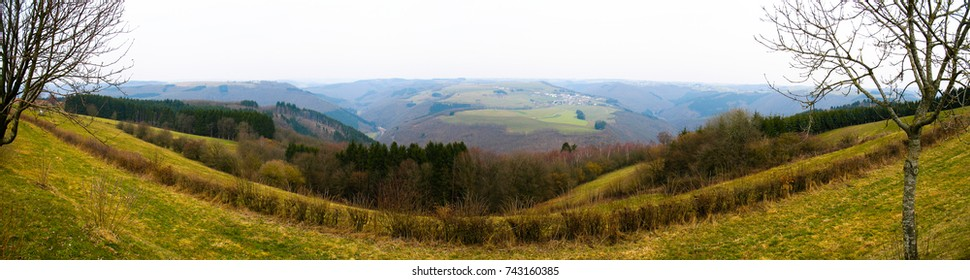 panoramic nature view in Luxembourg