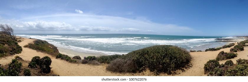 Panoramic Ocean View of Pacific Ocean Taken in Carlsbad, CA