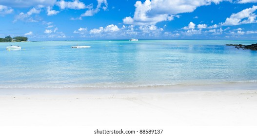 Panoramic Ocean view in the paradise island of Mauritius