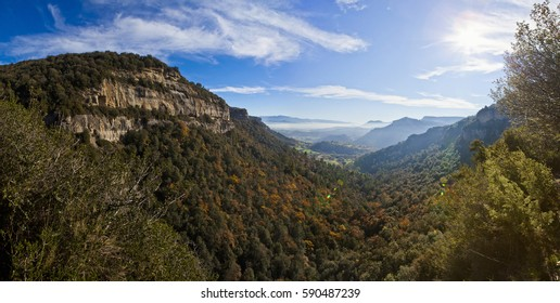 panoramic of osona mountains, catalonia, spain