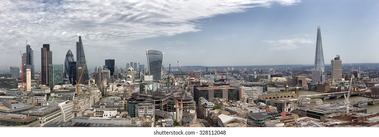 Panoramic overview of the London, UK