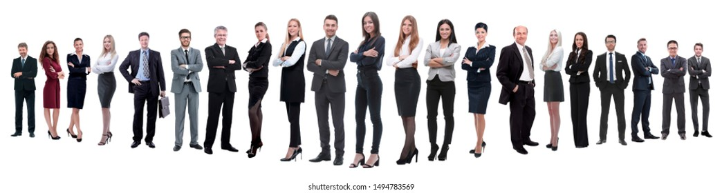 panoramic photo of a professional numerous business team