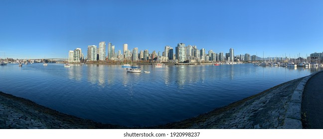 Panoramic photograph of downtown Vancouver, BC.