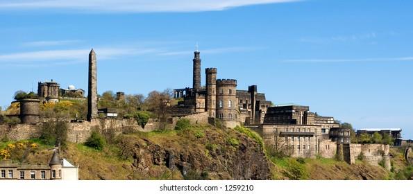 A panoramic picture of Calton Hill, Edinburgh