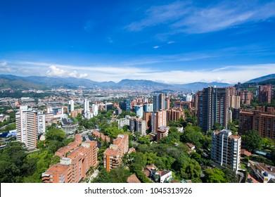 Panoramic of The Poblado, Medellin, Antioquia, Colombia