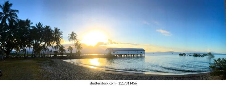 Panoramic of Port Douglas, tropical beach, paradise