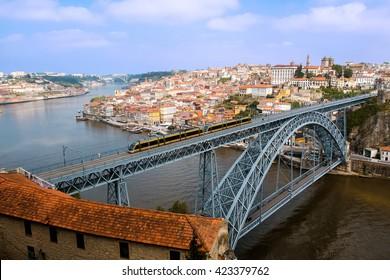 Panoramic of Porto city, D. Luis I Bridge