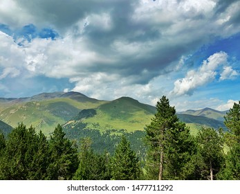 Panoramic of Puigmal mountain at Spanish Pyrenees Europe