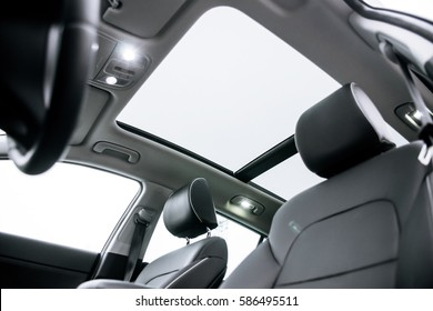 a panoramic roof in the car