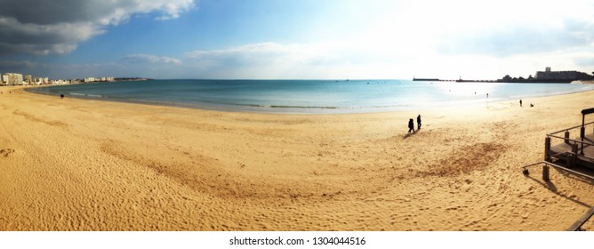 panoramic of sables d'Olonne in france