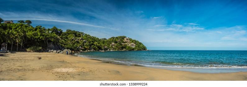 Panoramic of Sayulita beach