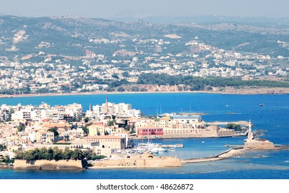 Panoramic seascape. Rethymno city. Crete.Greece.