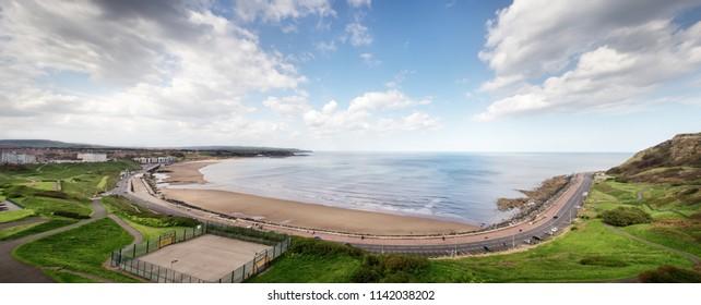 panoramic seascape of scarborough beach