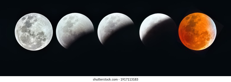 Panoramic Sequence of a Blood Moon Eclipse
