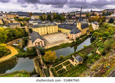 Panoramic shot of the old quarter of Luxembourg City, Luxembourg