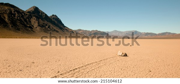 Panoramic shot of Racetrack Playa at Death Valley National Park