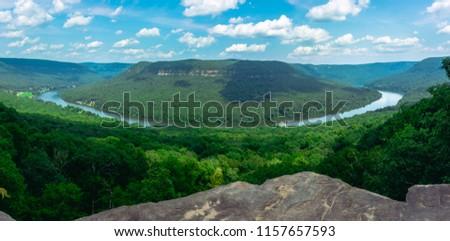 Panoramic shot of the