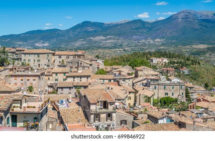 Panoramic sight from Alatri acropolis, province of Frosinone, Lazio, central Italy.