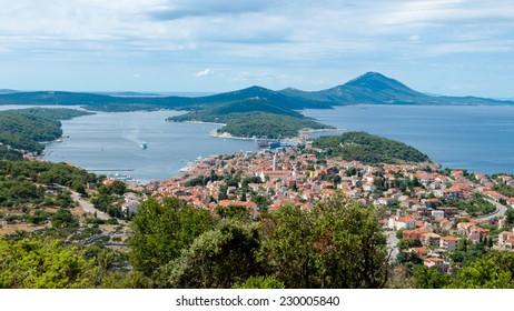 Panoramic sight of Mali Losinj in Croatia