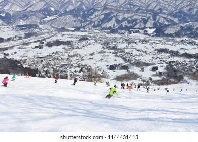 Panoramic ski at hakuba happo in Nagano Japan