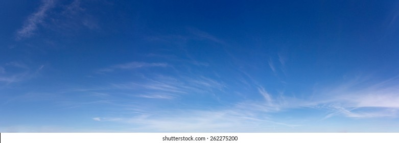 Panoramic sky on a sunny day.