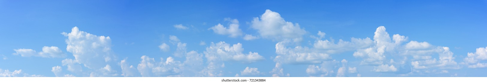 panoramic sky with white clouds