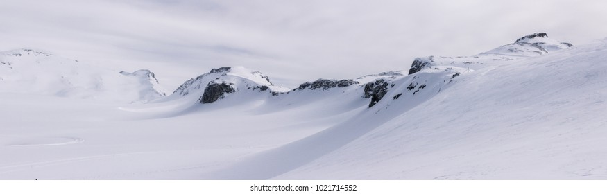 Panoramic of snowy landscape