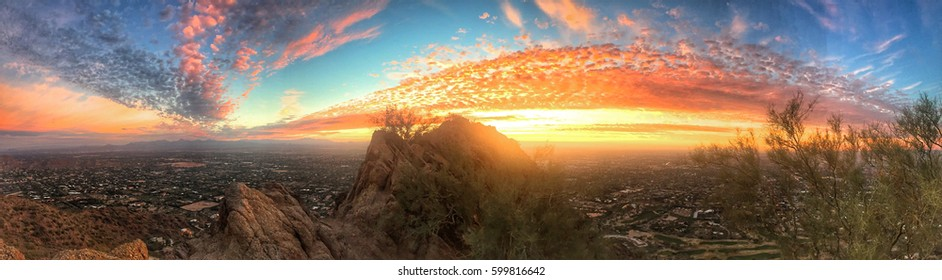 Panoramic sunrise in Phoenix, Arizona