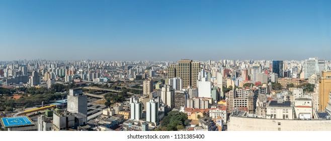 Panoramic Top View of Sao Paulo, SP/ Brazil