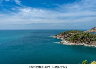 panoramic tropical coast of the sea