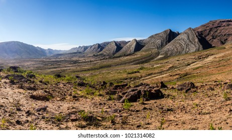 Panoramic of the valley of Toro Toro in Bolivia. Detail of the geological formations