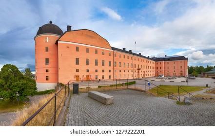 Panoramic view of 16th century Uppsala Castle, Uppsala, Sweden